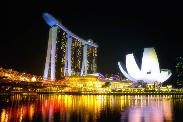 Scenic view at Formula One World Championship, Rd14, Singapore Grand Prix, Preparations, Marina Bay Street Circuit, Singapore, Thursday 14 September 2017. BEST IMAGE
