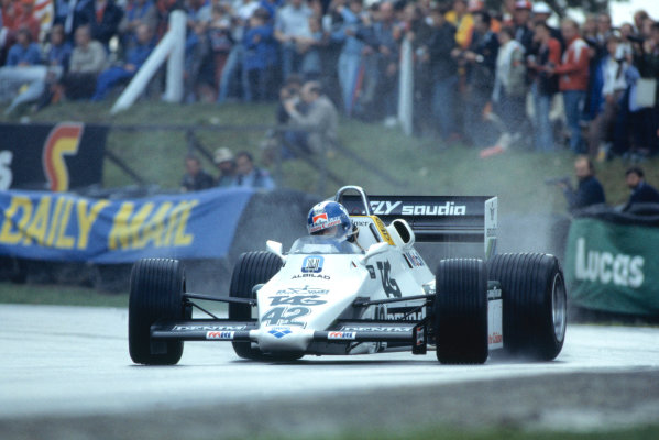 1983 European Grand Prix.Brands Hatch, Kent, Great Britain. 25 September 1983.Jonathan Palmer (Williams FW08C-Ford Cosworth).World Copyright:LAT Photographic