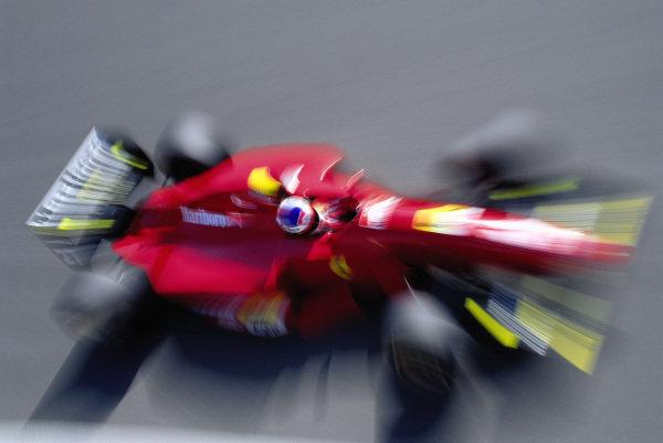 Jean Alesi, Ferrari 412T1B.
