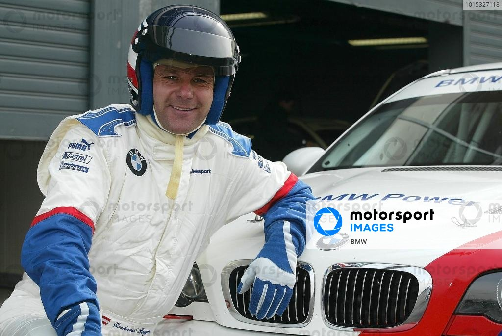 Former BMW Motorsport boss Gerhard Berger (AUT) was given the chance to test the BMW M3 GTR which will take part in the Nurburgring 24 Hours.