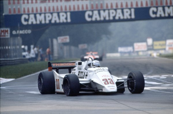 1982 Italian Grand Prix.Monza, Italy.10-12 September 1982.Tommy Byrne (Theodore TY02 Ford) DNQ, action.World Copyright - LAT Photographic
