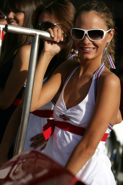 2007 Italian Grand Prix - ThursdayAutodromo di Monza, Monza, Italy.6th September 2007.Martini girls on show in the paddock. Glamour. Atmosphere.World Copyright: Andrew Ferraro/LAT Photographicref: Digital Image VY9E9293