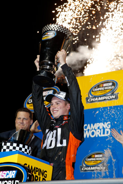 NASCAR Camping World Truck Series Ford EcoBoost 200 Homestead-Miami Speedway, Homestead, FL USA Friday 17 November 2017 Christopher Bell, JBL Toyota Tundra championship celebration World Copyright: Lesley Ann Miller LAT Images