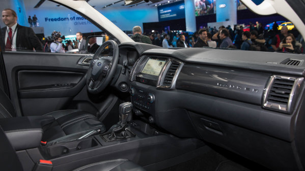 2019 Ford Ranger debuts at the 2018 North American International Auto Show in Detroit.