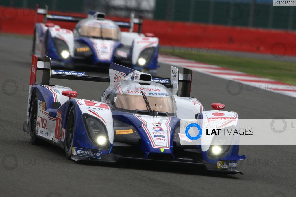 2013 FIA WEC Championship, Silverstone, Northamptonshire. 12th - 14th April 2013. Alexander Wurz / Nicolas Lapierre Toyota Racing TS030 World Copyright: Ebrey / LAT Photographic.