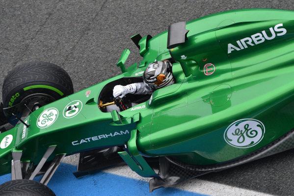 Kamui Kobayashi (JPN) Caterham CT05. Formula One Testing, Jerez, Spain, Day Four, Friday 31 January 2014.