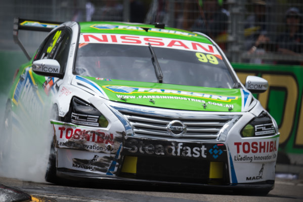 2015 V8 Supercars Round 14. Sydney 500, Sydney Olympic Park, Sydney, Australia. Friday 4th December - Sunday 6th December 2015. James Moffat drives the #99 Nissan Motorsport Nissan. World Copyright: Daniel Kalisz/LAT Photographic  Ref: Digital Image V8SCR14_SYDNEY500_DKIMG1392.JPG