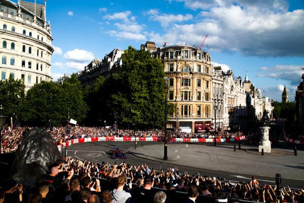 London, United Kingdom.  Wednesday 12 July 2017. Carlos Sainz Jr, Toro Rosso STR12 Renault. World Copyright: Joe Portlock/LAT Images  ref: Digital Image _L5R7262