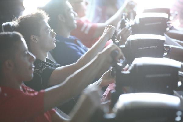 2017 FIA Formula 2 Round 7. Hungaroring, Budapest, Hungary. Saturday 29 July 2017. Louis Deletraz (SUI, Racing Engineering).  Photo: Andy Hone/FIA Formula 2. ref: Digital Image _ONY0734