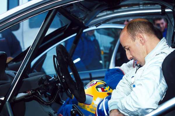 2001 World Rally Testing Didier Auriol tests the Peugeot 206 WRC. World Copyright: Photo4/ LAT Photographic.