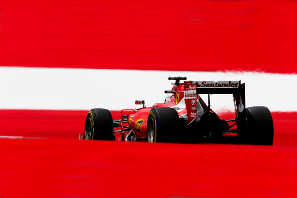 Red Bull Ring, Spielberg, Austria. Saturday 20 June 2015. Sebastian Vettel, Ferrari SF-15T. World Copyright: Steven Tee/LAT Photographic. ref: Digital Image _L4R8050