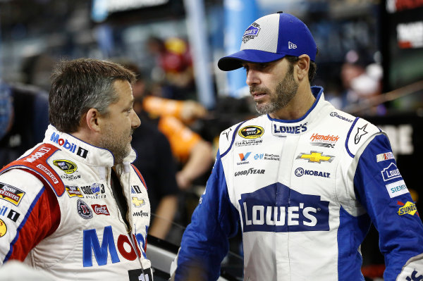 18-20 November, 2016, Homestead, Florida USA Tony Stewart, Jimmie Johnson ?2016, Brett Moist LAT Photo USA