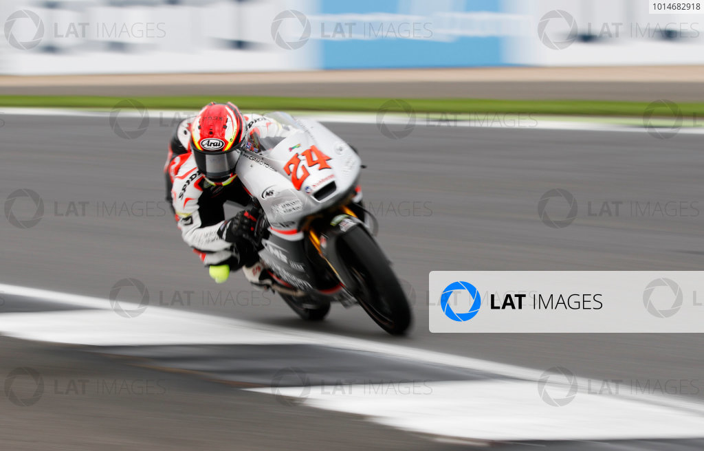 2016 Moto3 Championship.  British Grand Prix.  Silverstone, England. 2nd - 4th September 2016.  Tatsuki Suzuki, Mahindra.  Ref: _W7_7350a. World copyright: Kevin Wood/LAT Photographic