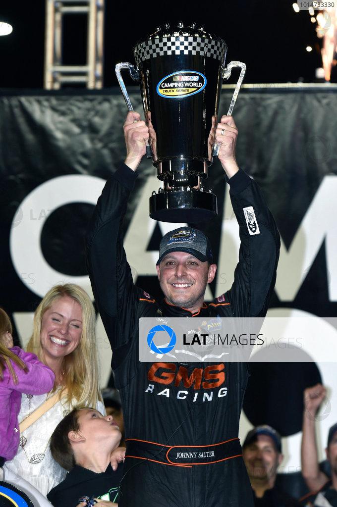 18 November, 2016, Homestead, Florida USA Johnny Sauter celebrates his Championship ? 2016, Nigel Kinrade LAT Photo USA