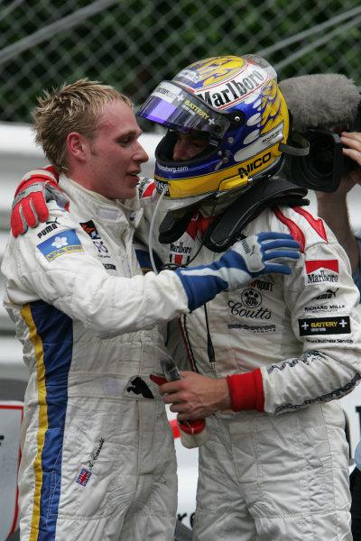 2005 GP2 Series - MonacoMonte-Carlo. 20th & 21st MaySaturday - RaceNico Rosberg (D, ART GP). congratulates Adam Carroll (GB, Super Nova International). on his race winner. Portrait Photo: GP2 Series Media Serviceref: Digital Image Only.