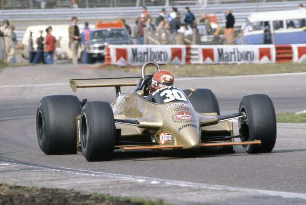 1980 Dutch Grand Prix.Zandvoort, Holland. 29-31 August 1980.Mike Thackwell (Arrows A3-Ford Cosworth), did not qualify.World Copyright: LAT PhotographicRef: 35mm transparency 80HOL11