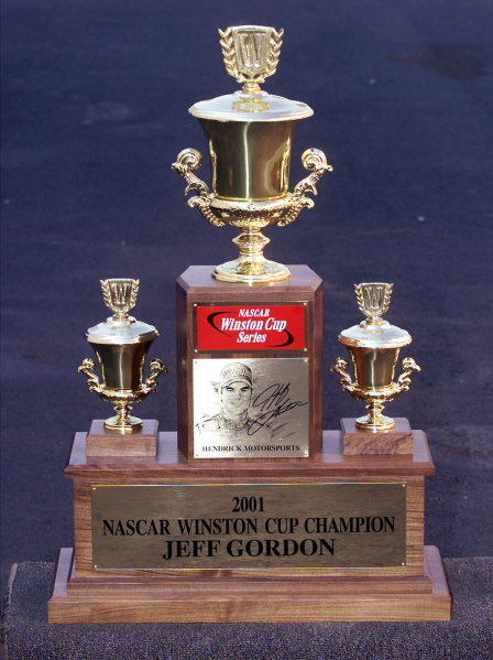 The Winston Cup Series Trophy as won by Jeff Gordon (USA) for the fourth time. 
