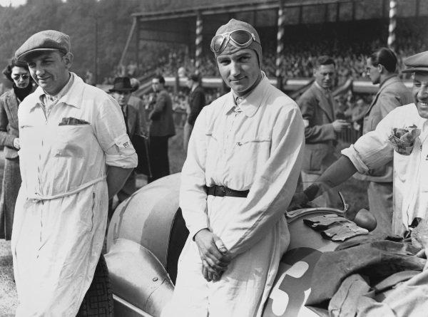 Donington Park, England. 2nd October 1937. Manfred von Brauchitsch, Portrait.Ref: C12982.World Copyright: LAT Photographic.