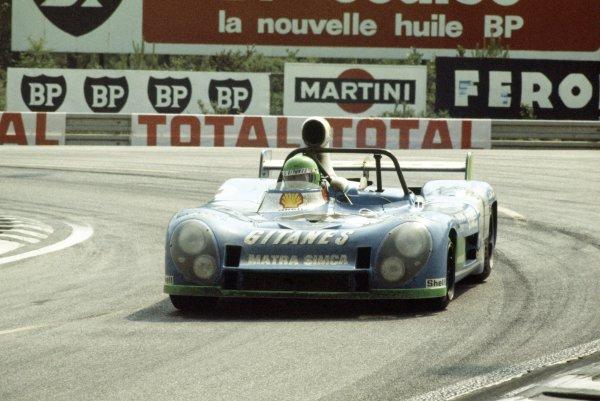 1974 Le Mans 24 hours.Le Mans, France. 15-16 June 1974.Henri Pescarolo/Gerard Larrousse (Matra-Simca MS670B), 1st position.World Copyright: LAT PhotographicRef: 35mm transparency 74LM02