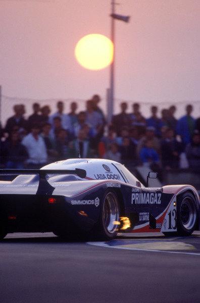 Le Mans, France. 11th - 12th June 1988 Pierre-Henri Raphanel/Michel Ferte, Cougar C20B Porsche, retired, action. World Copyright: LAT Photographic ref: 88LM40