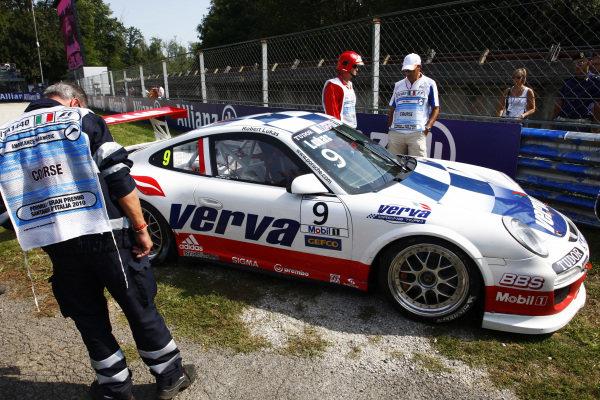 Robert Lukas (POL) Verva Racing Team retired from the race. Porsche Supercup, Rd 9, Monza, Italy, 10-12 September 2010.