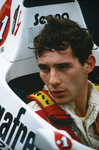 Ayrton Senna (Toleman-Hart), portrait.World Copyright: LAT Photographic.Ref: Colour Transparency.
