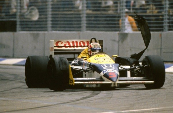 Nigel Mansell (GBR) Williams FW11, DNF Australian Grand Prix, Adelaide, 26 October 1986