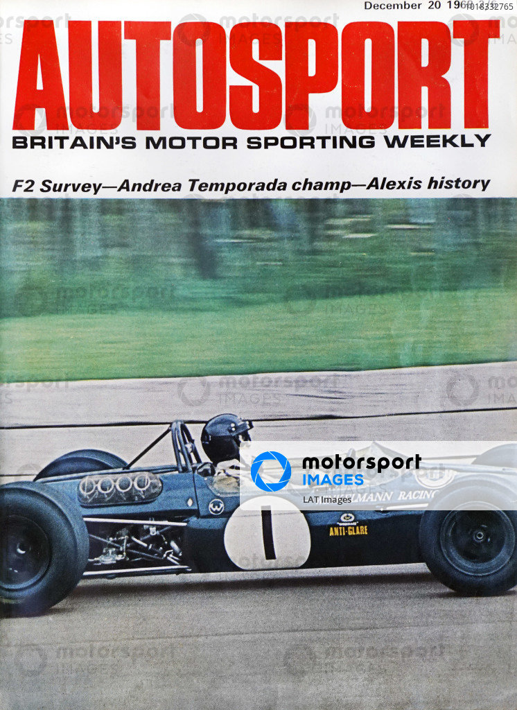 Cover of Autosport magazine, 20th December 1968