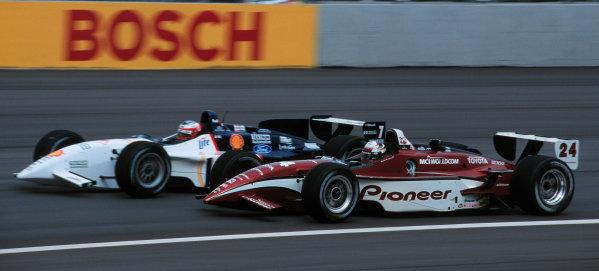 1999 CART Chicago GP, 22/8/99Papis passes Pruett-1999, Michael L. Levitt, USALAT PHOTOGRAPHIC