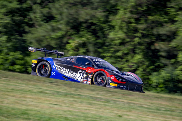 #70 McLaren 720S-GT3 of Brendan Iribe and Ollie Millroy, Inception Racing, Fanatec GT World Challenge America powered by AWS, Pro-Am, SRO America, Virginia International Raceway, Alton, VA, June 2021.