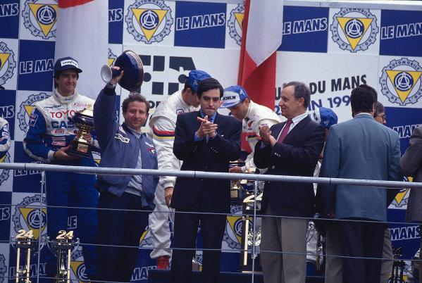 Le Mans 24 Hours, Le Mans, France.  20th-21st June 1992. Jean Todt on the podium. World Copyright: LAT Photographic Ref: 92LM05