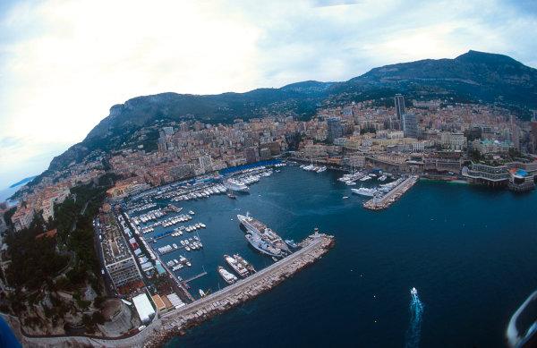 1993 Monaco Grand Prix.Monte Carlo, Monaco.20-23 May 1993.A pituresque aerial view of Monte Carlo's harbour.Ref-93 MON 15.World Copyright - LAT Photographic