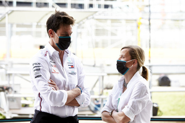Toto Wolff, Executive Director (Business), Mercedes AMG and Susie