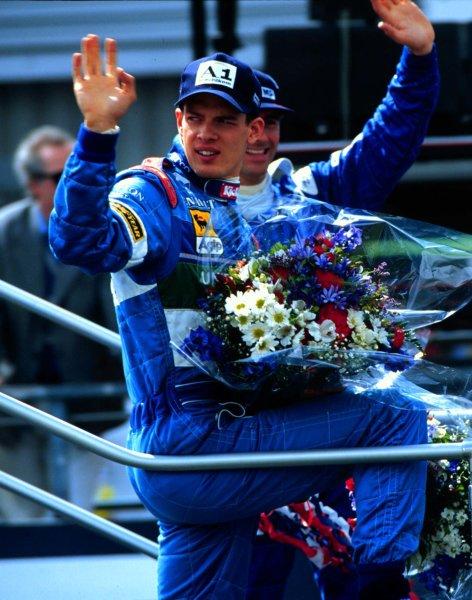 1997 British Grand Prix.Silverstone, England.11-13 July 1997.Alexander Wurz (Benetton Renault) 3rd position.World Copyright - LAT Photographic