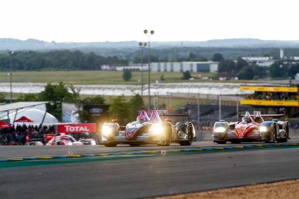2016 Le Mans 24 Hours. Circuit de la Sarthe, Le Mans, France. SRT41 By Oak Racing / Morgan LMP2 - Nissan - Frederic Sausset (FRA), Christophe Tinseau (FRA), Jean-Bernard Bouvet (FRA).  Thursday 16 June 2016 Photo: Adam Warner / LAT ref: Digital Image _L5R3261