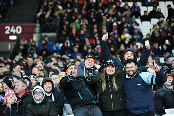 2015 Race Of Champions Olympic Stadium, London, UK Saturday 21 November 2015 Fans in the grandstand Copyright Free FOR EDITORIAL USE ONLY. Mandatory Credit: 'IMP'