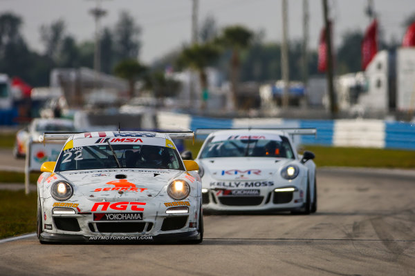 16-18 March, 2016, Sebring, Florida, USA 22, Mark Llano, Gold, 2011 Porsche ?2016, Jake Galstad LAT Photo USA