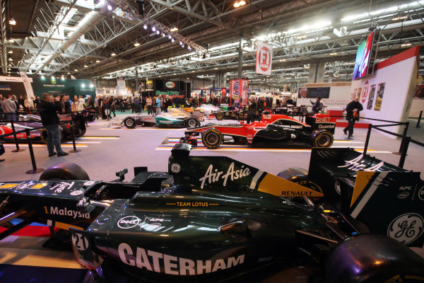 NEC, Birmingham. 13th January 2012.2011 F1 Cars on show at the F1Rcing display.World Copyright:Glenn Dunbar/LAT Photographicref: Digital Image IMG_1791