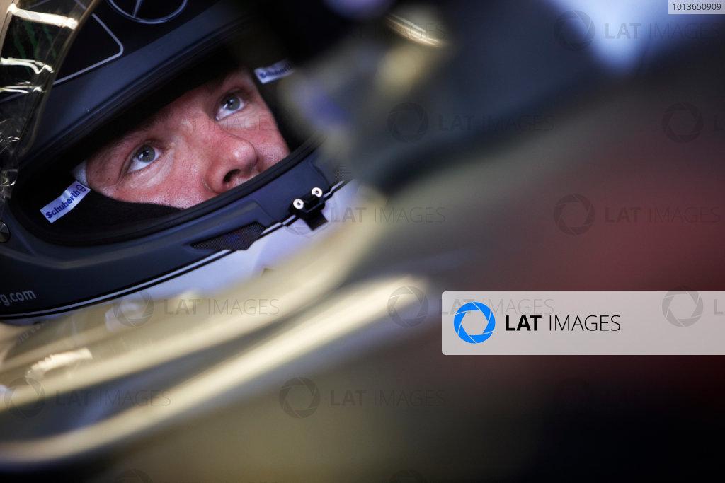 Spa-Francorchamps, Spa, Belgium 26th August 2011. Nico Rosberg, Mercedes GP W02. Portrait. Helmets.  World Copyright: Steve Etherington/LAT Photographic ref: Digital Image SNE26860