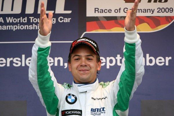 Augusto Farfus (BRA), BMW, won race 2. World Touring Car Championship, Rd9, Oschersleben, Germany, 6 September 2009.