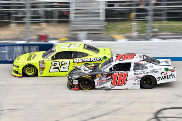 #22: Austin Cindric, Team Penske, Ford Mustang Menards/Richmond, #18: Noah Gragson, Joe Gibbs Racing, Toyota Camry Switch