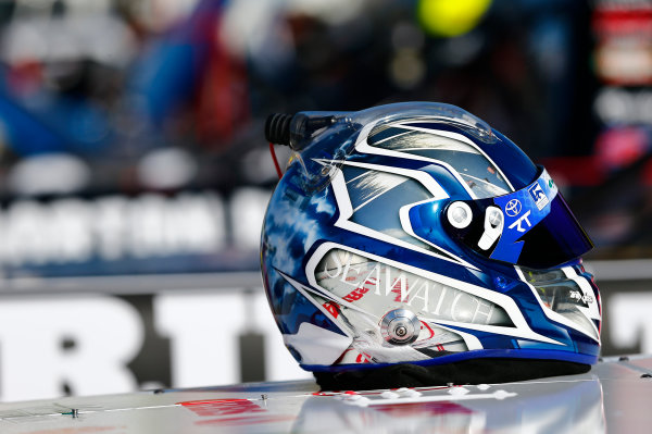 NASCAR Camping World Truck Series M&M?s 200 presented by Casey?s General Store Iowa Speedway, Newton, IA USA Friday 23 June 2017 Helmet detail World Copyright: Brett Moist LAT Images