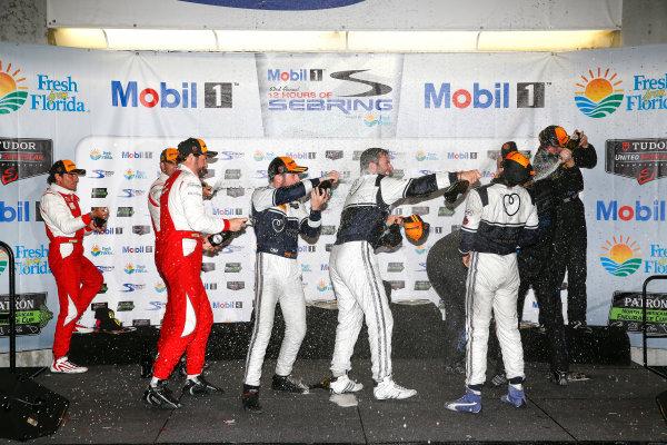 19-21 March, 2015, Sebring, Florida, USA GTD class podium ©2015, Michael L. Levitt LAT Photo USA