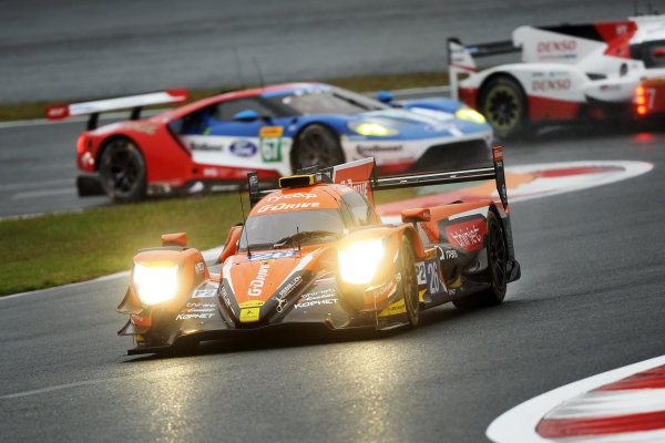2017 FIA World Endurance Championship, Fuji, Japan. 13th-15th October 2017, #26 G-Drive Racing ORECA 07-Gibson: Roman Rusinov, Pierre Thiriet, James Rossiter   World copyright. JEP/LAT Images