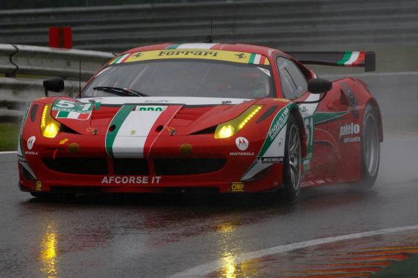 Spa Francorchamps, 3rd-5th May 2012,Giancarlo Fisichella/Gimmi Bruni AF Corse Ferrari 458 ItaliaWorld Copyright: Jakob Ebrey/LAT Photographic