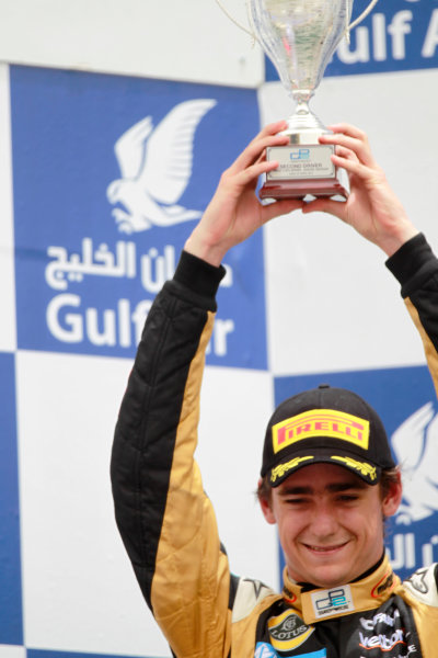 Bahrain International Circuit, Sakhir, Bahrain. 22nd April. Sunday Race.Esteban Gutierrez (MEX, Lotus GP). World Copyright: Andrew Ferraro/GP2 Media Service. Ref: Digital Image _Q0C8573.jpg