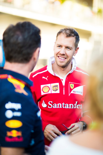 Autodromo Hermanos Rodriguez, Mexico City, Mexico. Saturday 28 October 2017. Sebastian Vettel, Ferrari. World Copyright: Sam Bloxham/LAT Images  ref: Digital Image _J6I9567