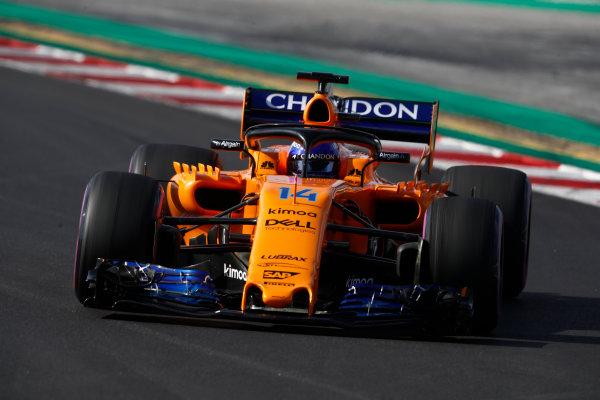 Circuit de Catalunya, Barcelona, Spain. Friday 09 March 2018. Fernando Alonso, McLaren MCL33 Renault. World Copyright: Glenn Dunbar/LAT Images ref: Digital Image _X4I1628
