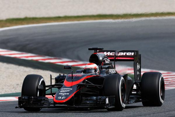 Circuit de Catalunya, Barcelona, Spain. Wednesday 13 May 2015. Jenson Button, McLaren MP4-30 Honda.  World Copyright: Alastair Staley/LAT Photographic. ref: Digital Image _79P4980