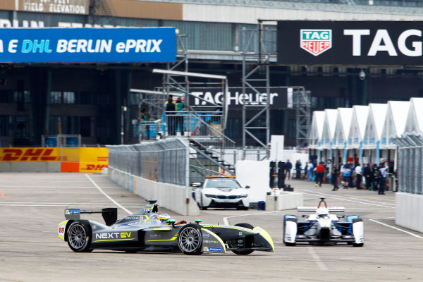2014/2015 FIA Formula E Championship. Charles Pic (FRA)/China Racing - Spark-Renault SRT_01E, Scott Speed (USA)/Andretti Autosport - Spark-Renault SRT_01E  Second Practice. Berlin e-Prix, Berlin, Germany, Europe. Saturday 23 May 2015  Photo: Adam Warner/LAT/Formula E ref: Digital Image _A8C7886